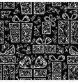 Seamless festive pattern vector image