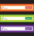 search bar icon vector image vector image
