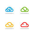 set of luxury cloud logo design concept cloud vector image vector image