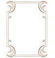 simple vertical two-layer frame on white vector image vector image