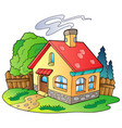 small family house vector image