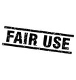 square grunge black fair use stamp vector image vector image