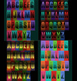 striped artistic alphabets vector image