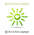 triangle sun in eps with heart vector image vector image