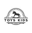 vintage retro toys kids store logo design vector image