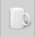 white ceramic mug realistic cup on vector image vector image