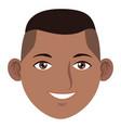 young man face cartoon vector image