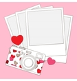 love photo camera background vector image