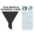 funnel icon with 1300 medical business icons vector image