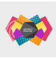 abstract hexagonal background with halftone vector image