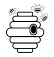 swarm icon outline style vector image