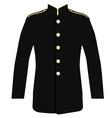 Police uniform jacket vector image