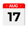 17 august calendar icon