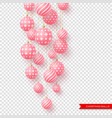 3d christmas yellow balls with geometric pattern vector image vector image
