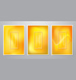 abstract trendy gradient shapes orange background vector image vector image