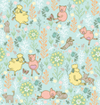 animals in the meadow seamless pattern vector image vector image