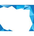 background trangle blue vector image