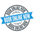 book online now blue round grunge vintage ribbon vector image vector image