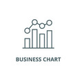 business chart bar graph line icon vector image vector image