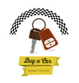 Buy a Car design vector image