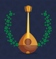 buzuky instrument isolated icon vector image