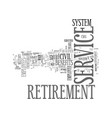 civil service retirement system text vector image vector image