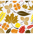 color leaves icon seamless pattern eps10 vector image vector image