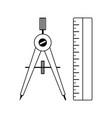 compasses icon vector image vector image