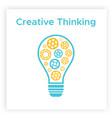 contour cogwheel lightbulb creative idea concept vector image vector image