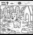 counting game for children educational game dog vector image vector image