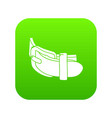 daily belt icon green vector image vector image