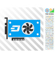 dash video gpu card flat icon with bonus vector image vector image