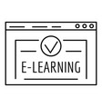 e learning icon outline style vector image vector image
