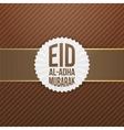 eid al-adha mubarak festive banner vector image