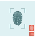 Fingerprint icon isolated vector image