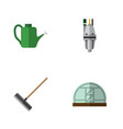 flat icon dacha set of harrow hothouse pump and vector image vector image