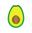 flat icon fruit avocado vector image vector image