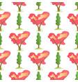 flat summer trees seamless cartoon pattern vector image vector image