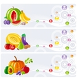 Food and drink icon set for healthy eating Fruits vector image vector image