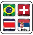 football championship flags group e vector image