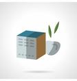 Fruit tea box flat color design icon vector image vector image