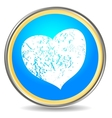 Grunge heart icon vector image