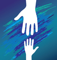 hand helping vector image vector image