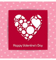 happy valentines day with pink pattern background vector image