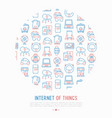 internet of things concept in circle vector image