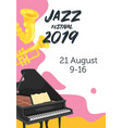 jazz poster backgroun vector image vector image