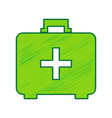 medical first aid box sign lemon scribble vector image
