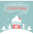 Merry Christmas card with Home vector image vector image