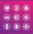 modern payment methods icons set vector image