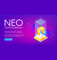neo cryptocurrency vector image vector image